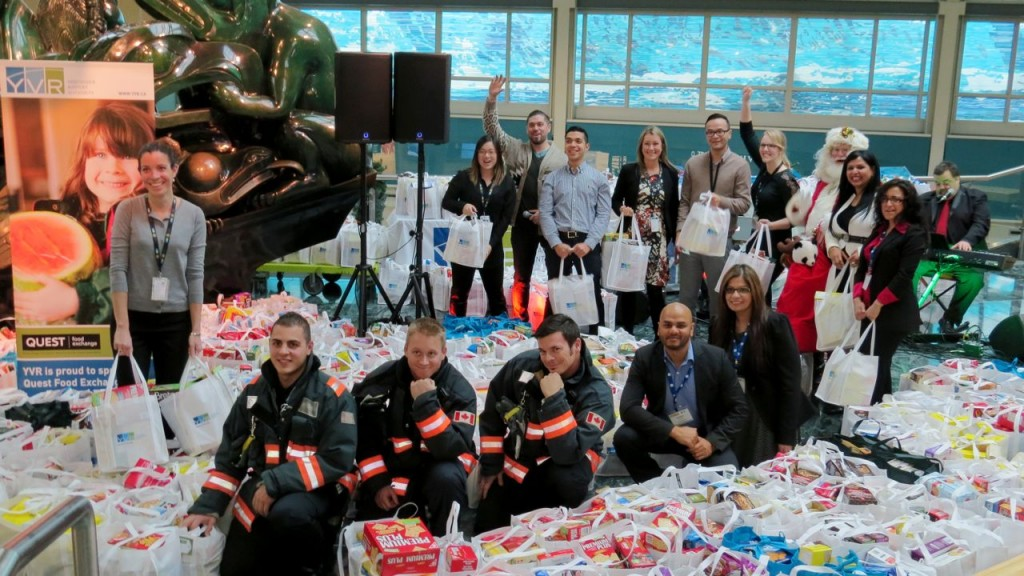 Each year, YVR holds a Holiday Hamper Drive, benefiting Quest clients. Each holiday season over 500 families get a feast, including a turkey!