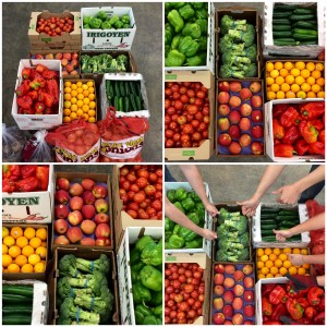 Fresh produce donated by one of our food supplier partners.